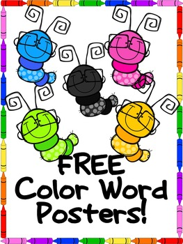 FREE Color Word Posters