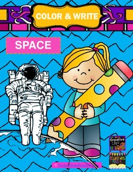 FREE! Color & Write Space (spacewalk, astronaut, space shuttle)