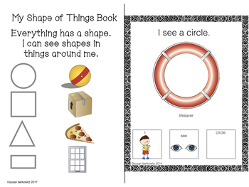 FREE Color and Shape Vocabulary Interactive Books