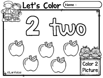 FREE Color by Number 1 - 20