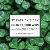 FREE Color by Sight Word Clover St. Patrick's Day Language Activity