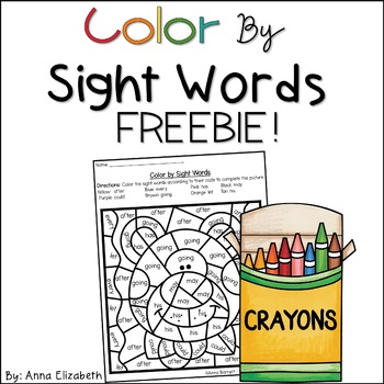 FREE Color by Sightwords
