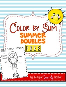 FREE Color by Sum Summer Doubles