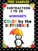 Color by the Difference – Subtraction Worksheets CCSSMATHC