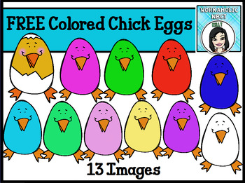 FREE Colored Chick Eggs Clip Art