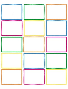 FREE Colored Scalloped Edge Labels