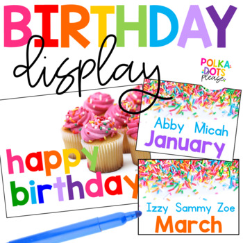 FREE Colorful Birthday Board with Photographs