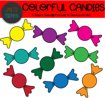 FREE Colorful Candy Clipart | Holiday or Seasonal | Halloween Clipart