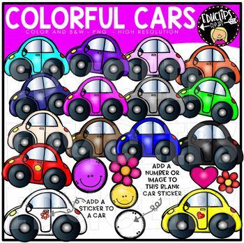 FREE ~ Colorful Cars Clip Art Bundle {Educlips Clipart}