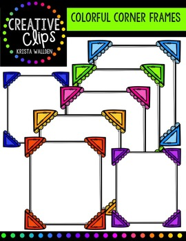FREE Colorful Corner Frames {Creative Clips Digital Clipart}