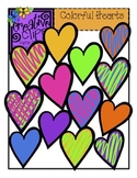 FREE Colorful Hearts {Creative Clips Digital Clipart}