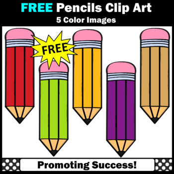 FREE Back to School Pencil Clipart SPS