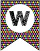 FREE Colorful Polka Dot Classroom Welcome Banner