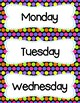 FREE Colorful Polka Dot Days Of The Week Cards