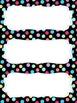 FREE Colorful Polka Dot Name Tags for Student Desks - Begi