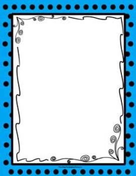 FREE Colorful Polka Dot Themed Backgrounds with Frame