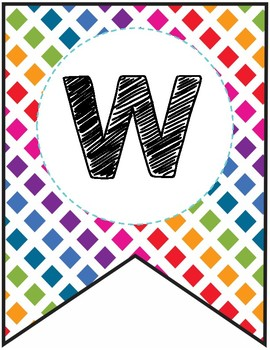 Classroom Welcome Banner - Colorful Rainbow Theme