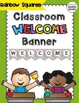 FREE Colorful Rainbow  Classroom Welcome Banner