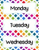 FREE Colorful Rainbow Days Of The Week Cards