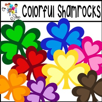 FREE! Colorful Shamrocks Clipart