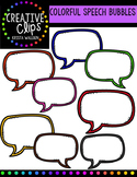 FREE Colorful Speech Bubbles {Creative Clips Digital Clipart}