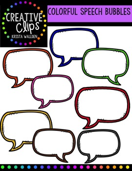 FREE Colorful Speech Bubbles {Creative Clips Digital Clipart}