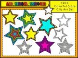 FREE Colorful Stars Clip Art