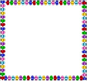 FREE Colorful Winter Mittens Border Background Powerpoint Smartboard PDF JPEG