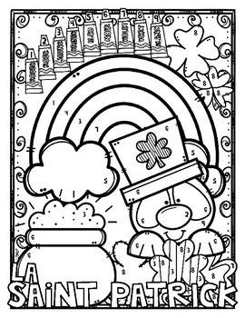 FREE - Coloriage par code - La Saint Patrick