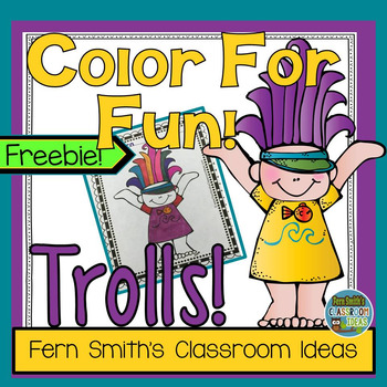 Troll Coloring Page Freebie