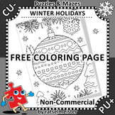 FREE Coloring Page with Decorated Ornament, Non-CU
