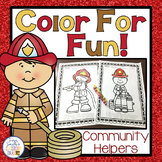 Community Helpers Firefighters Coloring Pages Freebie