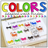 FREE Colors Adapted Work Binder
