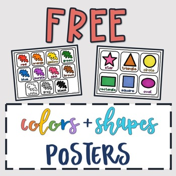 FREE Colors & Shapes Posters