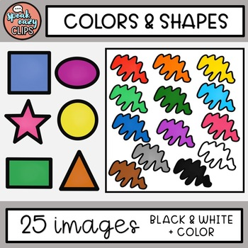 FREE Colors & Shapes Clip Art - SpeakEazy Clips