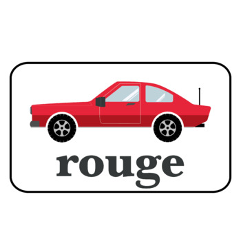 Colors in French Car Printables (PDF and PNG)