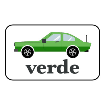 FREE Colors in Portuguese Car Printables (High Resolution)