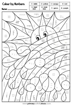 FREE Colour by Numbers - Developing Number Sense for numbers 1-10
