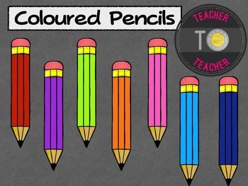 FREE Coloured Pencils {TeacherToTeacher Clipart}