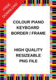 FREE Colourful Piano Keys Border and Frame for your worksheets.