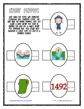 FREE Columbus Day Finger Puppets for Retelling