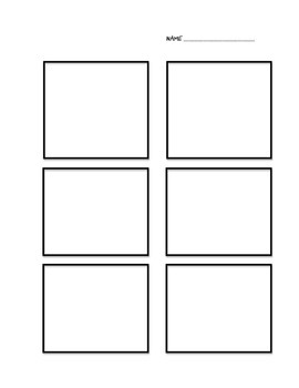 Comic Strip Template for Students to Create Their Own Comics - Freebie