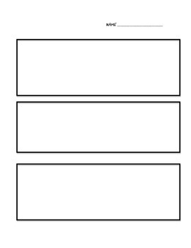 Comic Strip Template for Students to Create Their Own Comi
