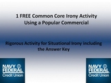 FREE Common Core Activity w/Answer Key for Situational Irony in Commercials!!