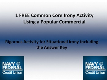 FREE Common Core Activity w/Answer Key for Situational Iro