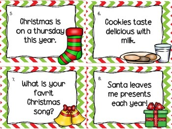 FREE Common Core Aligned Santa's Sentence Sort