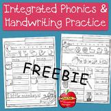 FREE ~ Integrated Handwriting & Phonics  Practice: Kinderg
