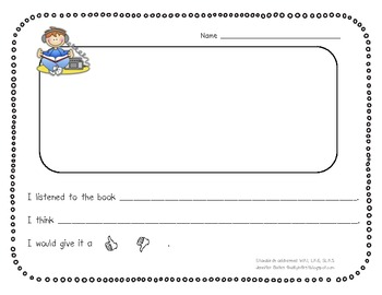 FREE Common Core Listening Center Response Sheets
