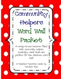 FREE Community Helpers Word Wall Packet