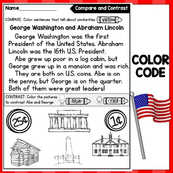 FREE Compare and Contrast: Presidents